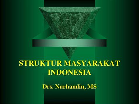 Masyarakat Indonesia struktur masyarakat indonesia
