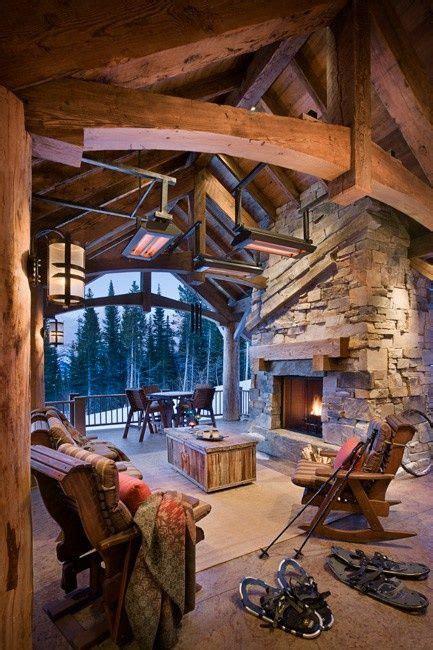 winter log cabin home sweet home