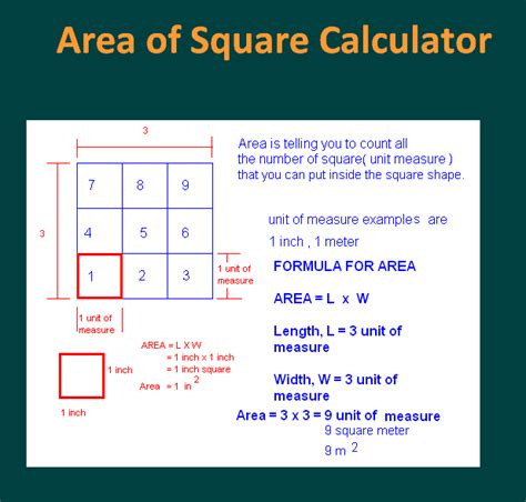 area of a square area of square and rectangle