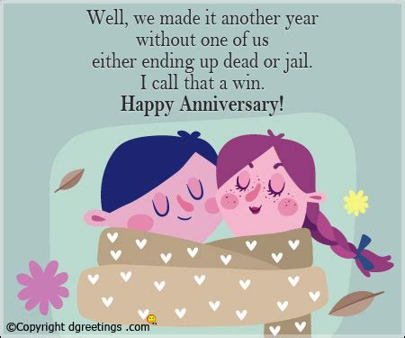 One Year Wedding Anniversary Card Sayings by Anniversary Quotes Humorous Anniversary Quote For