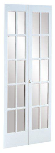 pinecroft 32 in x 80 in classic french glass wood pinecroft 852728wt traditional divided glass french bifold