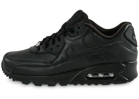 Chausures Air Nike Air Max 90 Leather Noir