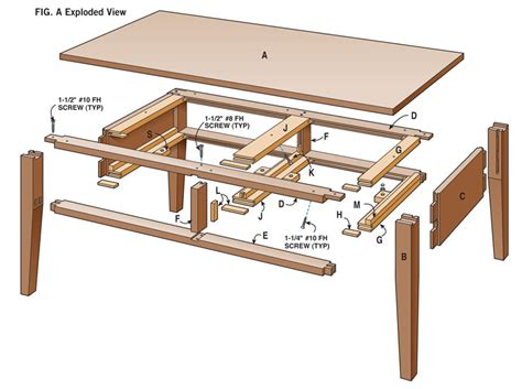 drawer coffee table sketchies exploded view coffee