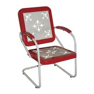 4d concepts retro metal outdoor dining chair