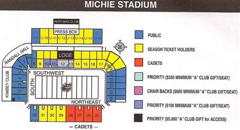 michie stadium seating chart michie stadium 171 for what they gave on saturday afternoon