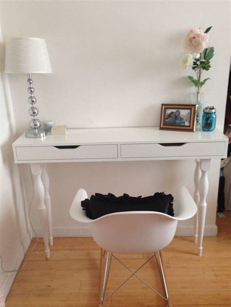 picture of diy ikea hack narrow console table ikea hack ekby alex shelf 4 nipen table legs my diy