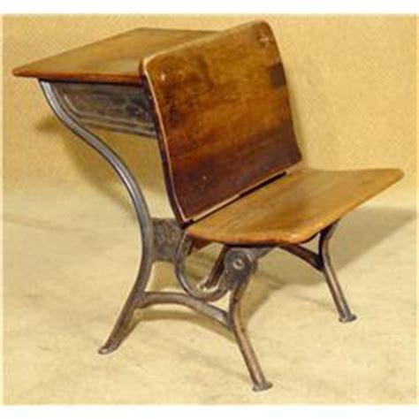 antique wrought iron school desk