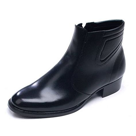 epicstep s black leather dress formal casual shoes zip