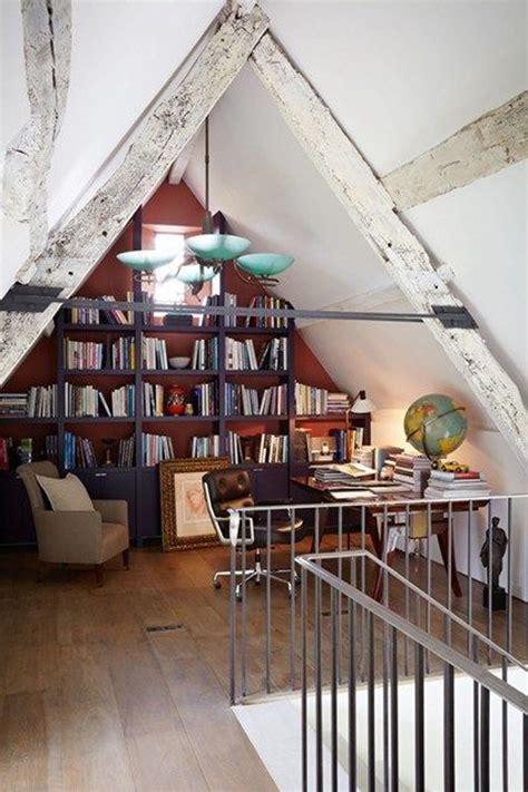 vintage attic library design