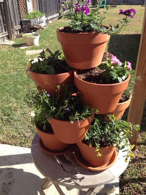 flower pot tower  simple flower pots diy flower