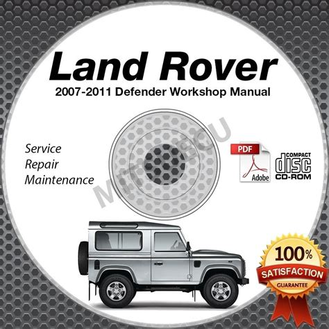 service manual 2011 land rover range rover manual 2007 2011 land rover defender 2 4l
