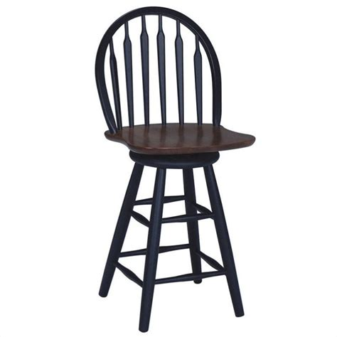 Arrowback Bar Stool by 24 75 Quot Arrowback Swivel Counter Stool In Black
