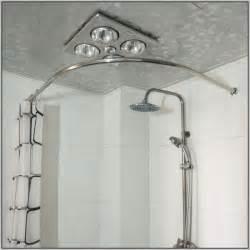 Curved bathroom shower curtain rod curtains home design ideas
