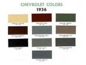 chevy paint colors 1936 chevy paint color sle chips card oem colors ebay
