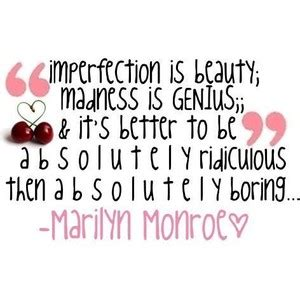Quotes About Imperfection   Marilyn Monroe Quotes And Sayings Imperfection Nivoteam Info
