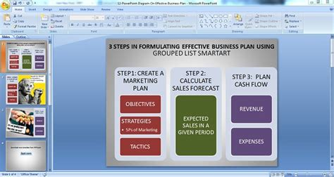 Using Powerpoint Diagrams For Making Effective Business Plans Business Plan Template Powerpoint