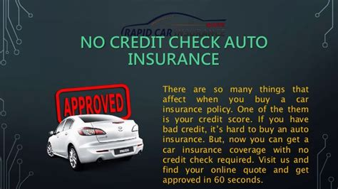 Check Car Insurance Rates by Cheap No Credit Check Car Insurance Policy With Low Rates