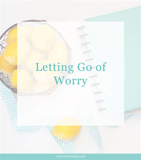 Lemon And The Sea How - lemon and the sea letting go of worry