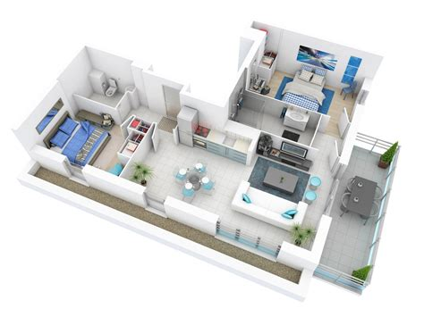 3 l floor l 25 more 2 bedroom 3d floor plans