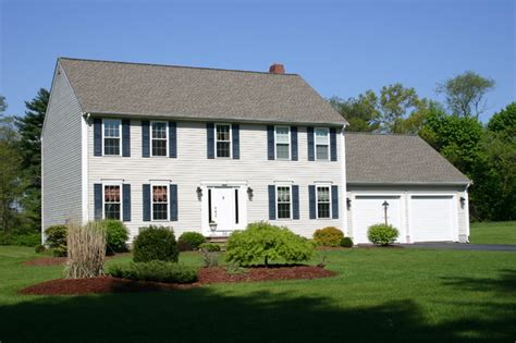 Colonial Farmhouse Plans two story homes traditional exterior providence by