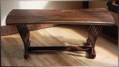 hicks woodworking walnut coffee table  sweeping spindles