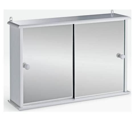 white sliding door cabinet buy home sliding door bathroom cabinet white at argos co