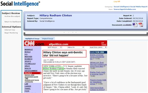 Intel Background Check And Clinton Fail Social Intelligence Background