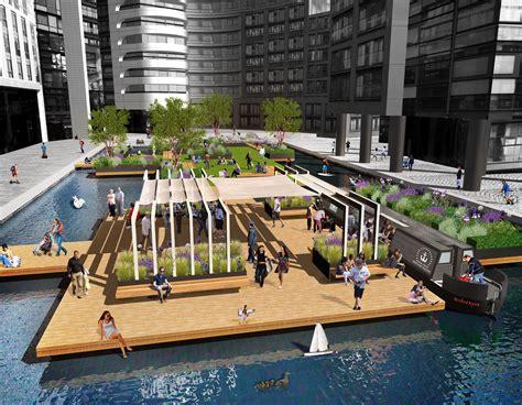 floating boat restaurant london our design for london s first floating pocket park