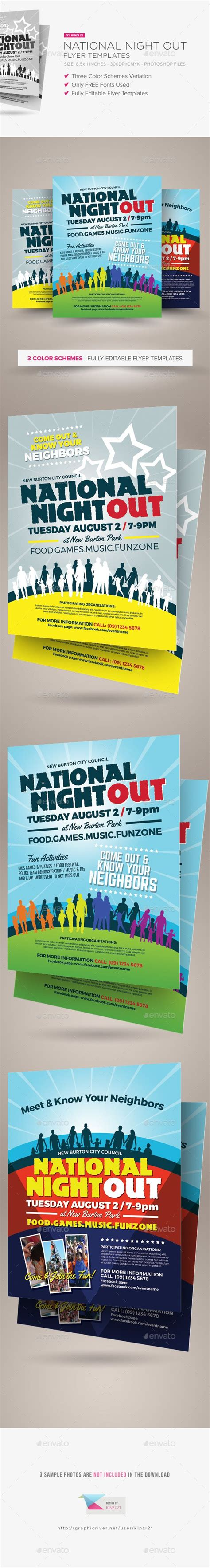 National Night Out Flyer Templates Flyer Template National Out Flyer Template Free