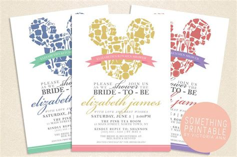 Disney Bridal Shower Invitations by 1000 Ideas About Disney Bridal Showers On
