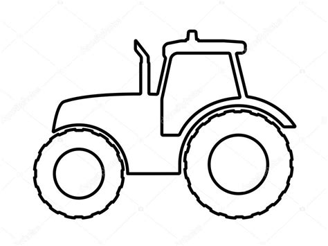 tractor template to print tractor stencil printable www imgkid the image kid