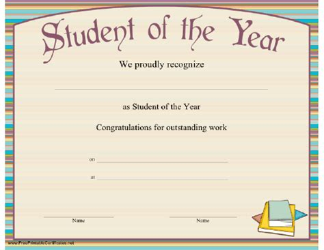 Top 5 Resources To Get Free Student Of The Year Award Templates Word Templates Excel Templates Student Award Template