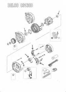 delco cs130d alternator repair kit chevy truck pontiac buick oldsmobile 94 03 ebay