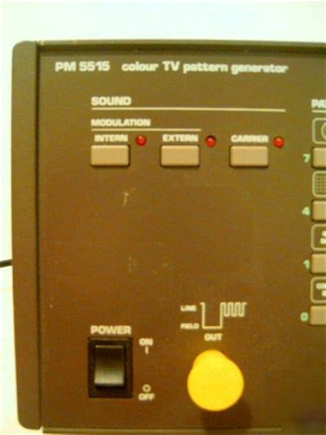 pattern generator in tv philips pm 5515 color tv pattern generator pm5515