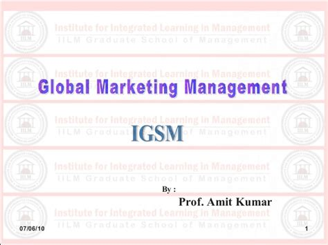 Imm Global Executive Mba Brasil by Imm Unit 07 Global Distribution System