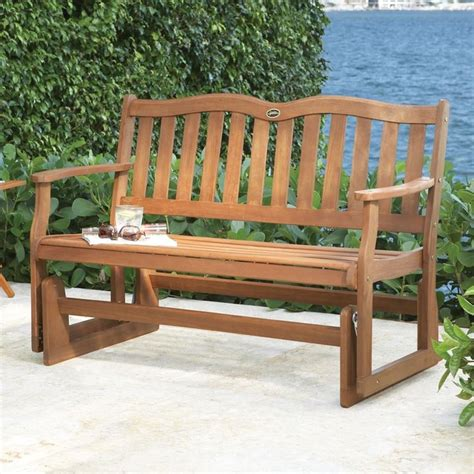 porch bench glider 2 person glider bench traditional outdoor gliders by brookstone