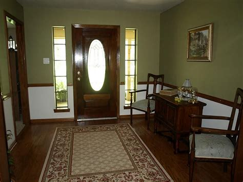 for dining room stained wood chair rail color walls