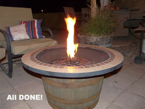 whiskey barrel pit diy whisky pit tutorial so you think you re crafty