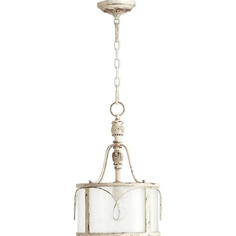 L Shade Pendant by Quorum Salento 1 Light Drum Shade Pendant In White