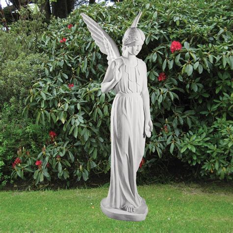 backyard statues angel figurine 183cm religious sculpture marble garden