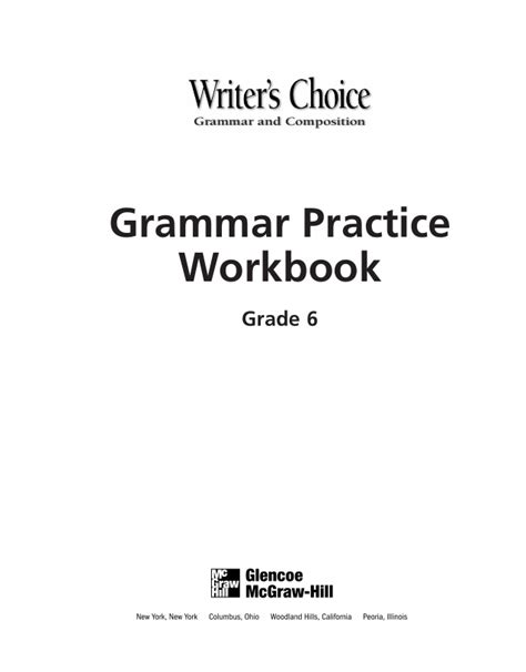 grammar 6th grade grammar workbook grade 6 worksheets and tests no prep printables for 5th 6th grade grammar workbook education volume 6 books 6th grade grammar workbook