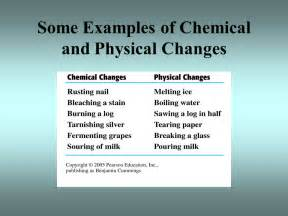 is color physical or chemical physical and chemical changes ppt
