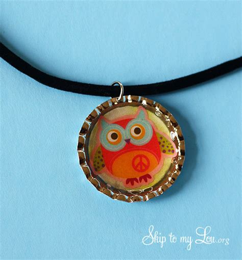 how to make bottle cap jewelry how to make a bottle cap necklace