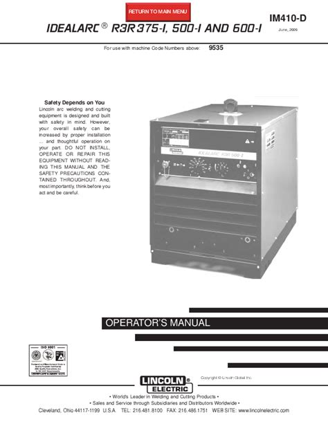 lincoln welder manuals lincoln electric welder r3r 600 i user s guide