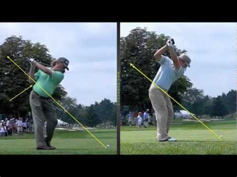 ryan moore swing miguel jimenez ryan moore golf swing comparing by craig