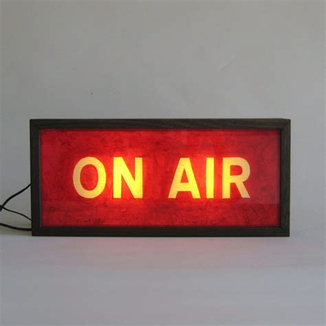 on air sign light painted vintage on air wooden lightbox sign