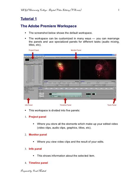tutorial on adobe premiere pro tutorial 1 adobe premier pro