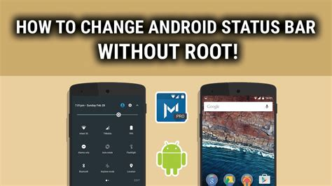 how to customize android how to customize change or edit status bar on android without rooting my tunes hub