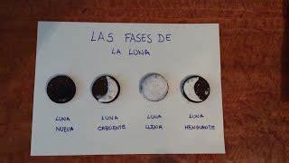 ejemplos de maqueta para las fases lunares recursos un viaje al espacio exterior