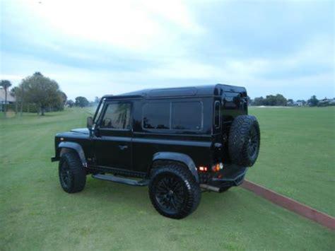 1997 land rover defender interior purchase used 1997 land rover defender 90 autosport black